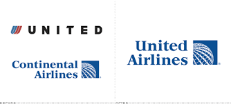 United-Air Continental. Logo